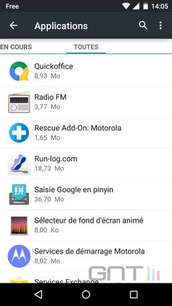 Cacher applications intégrées Android (3)