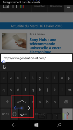 Joystick clavier Windows 10 Mobile (3)