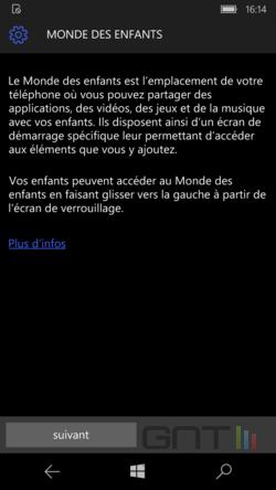 Monde enfants Windows 10 Mobile