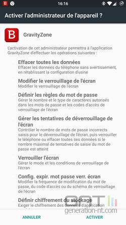 GravityZone Android