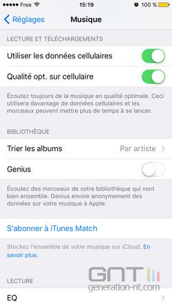 Qualité audio cellulaire  iOS (2)