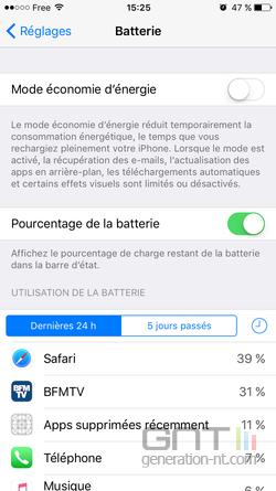 Mode économie énergie iPhone (2)