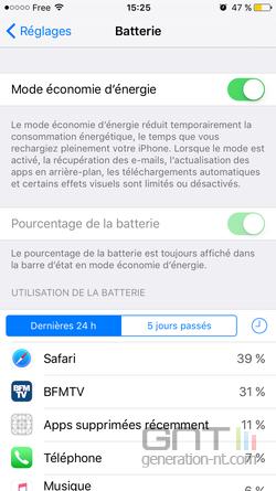 Mode économie énergie iPhone (3)