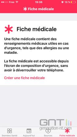 Fiche médicale iPhone (2)
