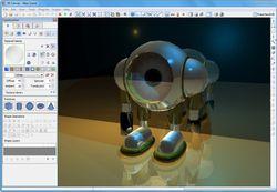 3D Canvas screen