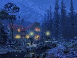 3D Snowy Cottage