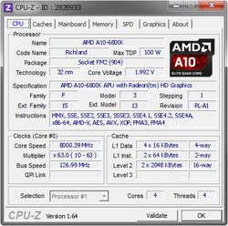 A10-6800K overclocking