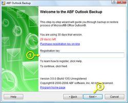 ABF Outlook Backup screen2