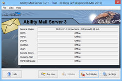 Ability Mail Server screen1