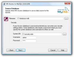 Access To MySQL screen1
