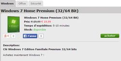 achat windows 7