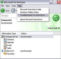 ActiveSync screen1