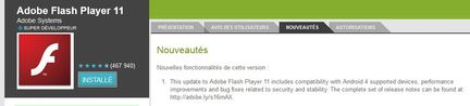 Adobe Flash Player 11 Android