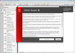 Adobe Reader X screen1