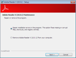 Adobe Reader X screen2