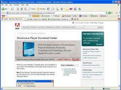 Adobe Shockwave Player screen1.