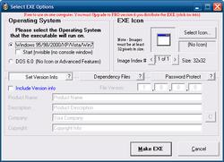 Advanced BAT to EXE Converter screen 1