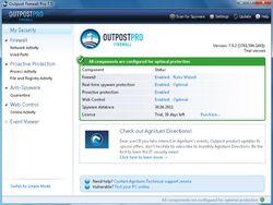 Agnitum Outpost Firewall Pro screen
