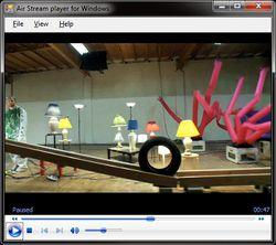 Air Stream Media Player screen1