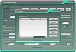 Aktiv MP3 Recorder screen 2
