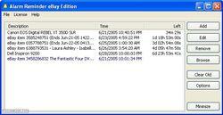 Alarm Reminder eBay Edition screen
