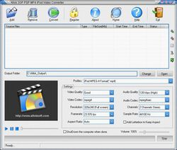 Allok 3GP PSP MP4 iPod Video Converter screen