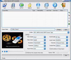 Allok Video to 3GP Converter screen