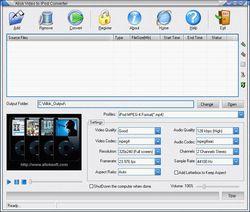 Allok Video to iPod Converter screen