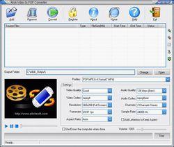 Allok Video to PSP Converter screen