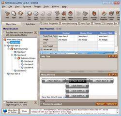 AllWebMenus Pro screen2