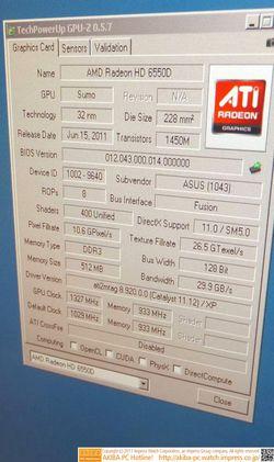AMD A8-3870K overclocking GPU