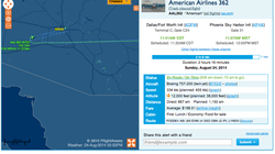 Amercian Airlines route