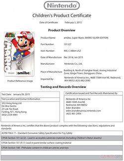 Amiibo Super Mario argent