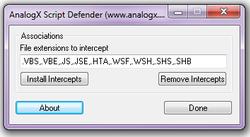 AnalogX Script Defender screen1