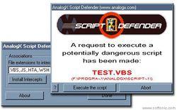 AnalogX Script Defender screen2