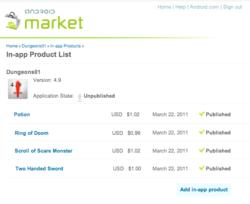 Android Market inapp