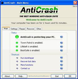 AntiCrash screen 1