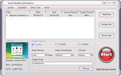 AoA Audio Extractor screen1