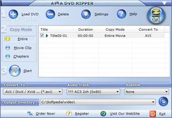 AoA DVD Ripper screen