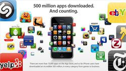 Apple iPhone App Store 500 millions