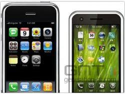 Apple iphone meizu m8 small
