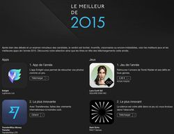 Apple meilleures applications 2015
