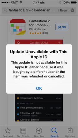 application remboursée apple blocage