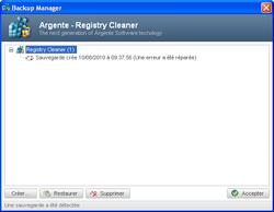 Argente Registry Cleaner screen1