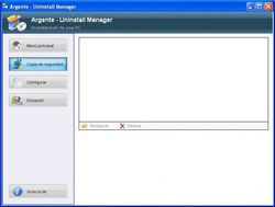 Argente Uninstall Manager screen 1
