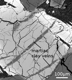 argile mars météorite