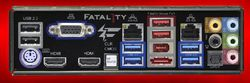 ASRock Fatal1ty Z68 Professional Gen3 arrière