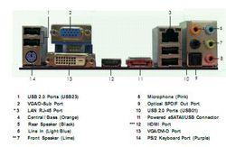 ASRock M31785GMH 128M arrière