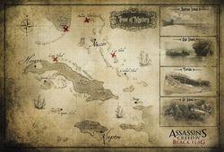 Assassin Creed 4 Black Flag - carte