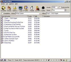 Audiograbber screen 2